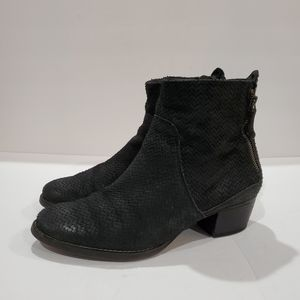 Paul Green Women's ankle boots snakeskin nubuck